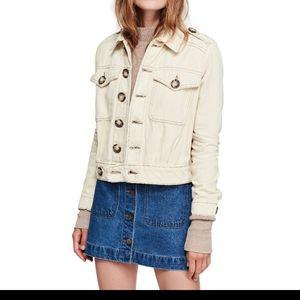 Free people Eisenhower denim jean jacket button up